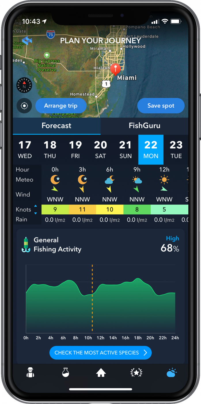 Plan your fishing trip with WeFish